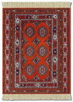 Burnt Orange Bokhara, Coaster Rug