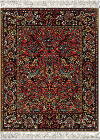Floral Arabesque, Mouse Rug