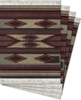 Earthtone Southwest, Coaster Rug