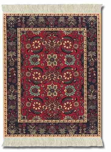 Pashmina Flowers, Mouse Rug