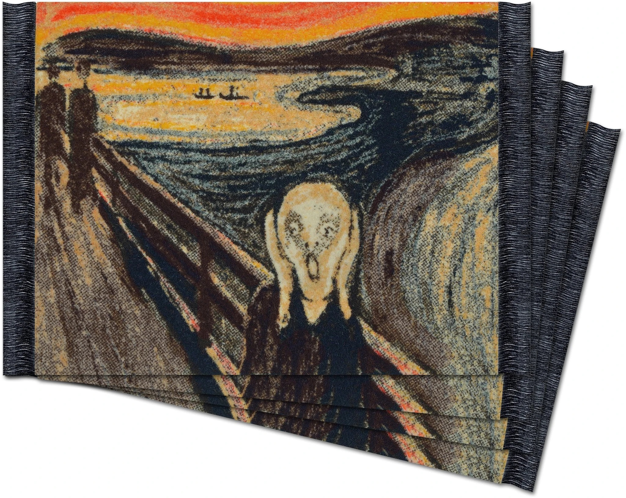 The Scream, Coaster Rug